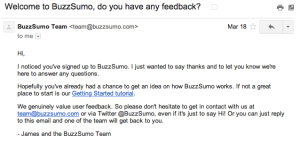 buzzsumo-welcome-email