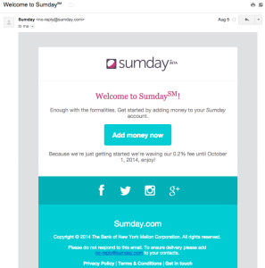 sumday-welcome-email