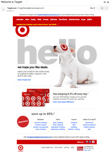 target-welcome-email